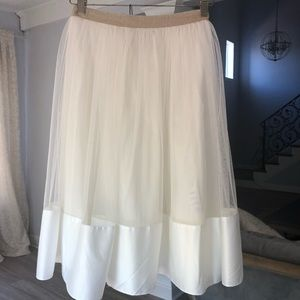 Asos White Tulle Skirt